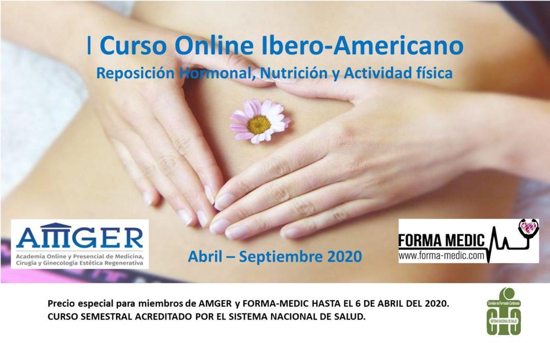 I CURSO BÁSICO ONLINE: REPOSICIÓN HORMONAL, NUTRICIÓN HUMANA Y ACTIVIDAD FÍSICA